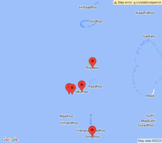 map of Mathiveri fishing charters
