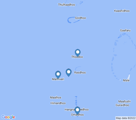 map of Mathiveri fishing charters