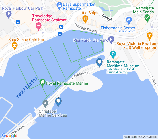 map of Ramsgate fishing charters