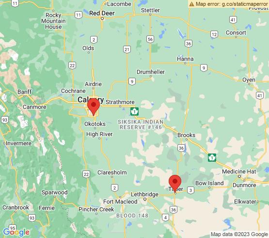 map of Alberta fishing charters