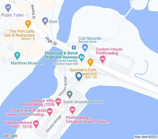 map of Porthmadog fishing charters