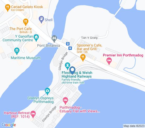map of Porthmadog fishing charters