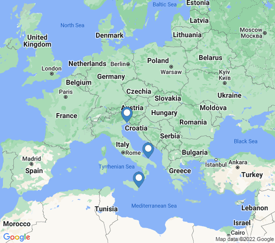 map of Italy fishing charters