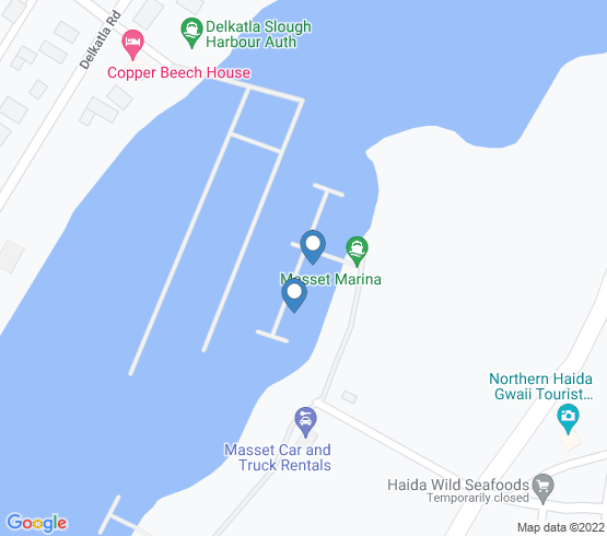 map of Masset fishing charters