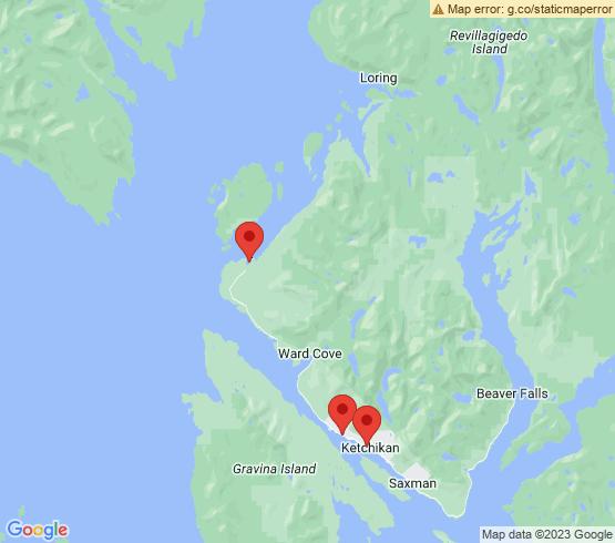 map of Ketchikan fishing charters