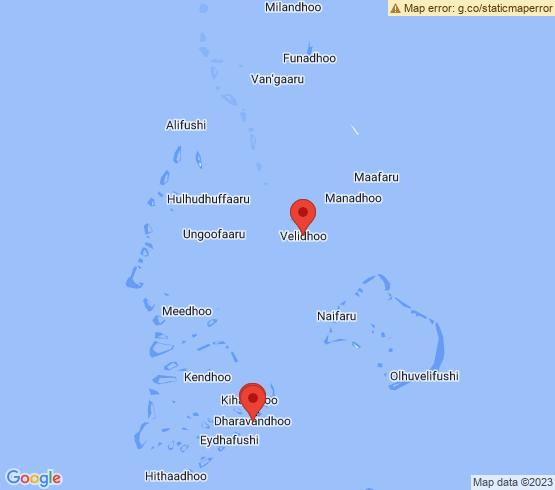 map of Baa Atoll fishing charters
