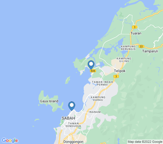 map of Kota Kinabalu fishing charters