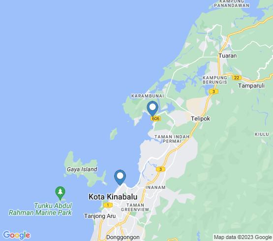 map of Kota Kinabalu fishing charters