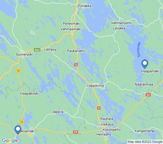 map of Finland fishing charters