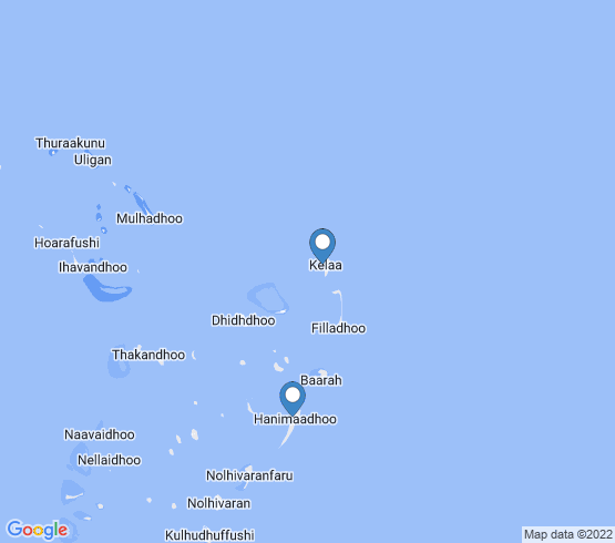map of Hanimaadhoo fishing charters
