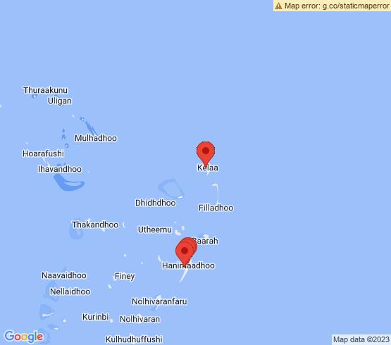 map of Kelaa fishing charters