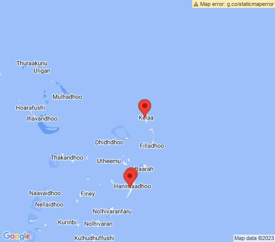 map of Hanimaadhoo fishing charters