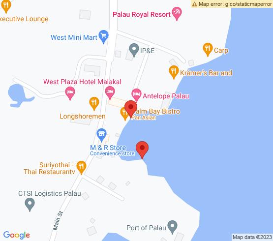 map of Palau fishing charters