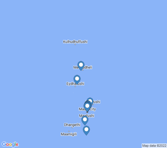 map of Maldives fishing charters