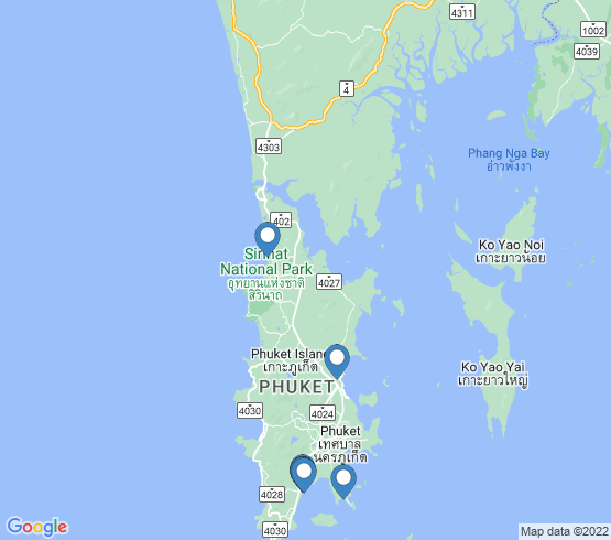 map of Phuket fishing charters