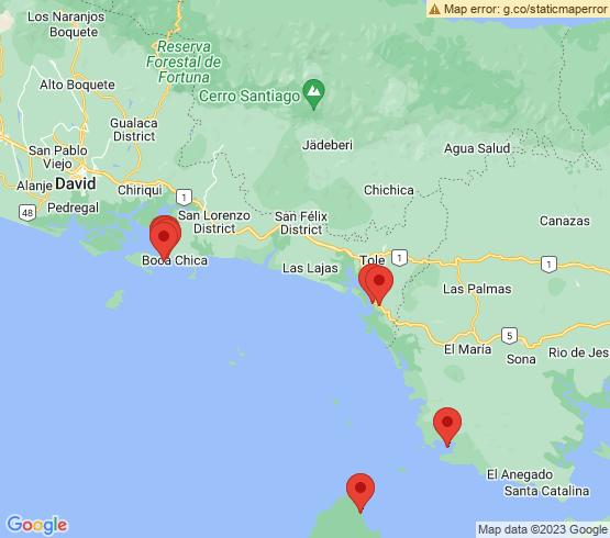 map of Quebrada De Piedra fishing charters