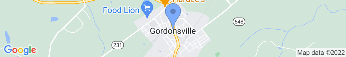 Staticmap?size=582x96&scale=2&center=gordonsville,+va+22942,+usa&zoom=13&markers=color:blue%7cgordonsville,+va+22942,+usa&markers=color:0x86b31f%7c38.298485, 77.831482&markers=color:0xa3be1e%7c38.313286, 77.779831&markers=color:gray%7c38.318447, 77.769615%7c38.299309, 77.829391%7c38.261566, 77.824478%7c38.305397, 77.810295%7c38.305397, 77.810295%7c38.324627, 77