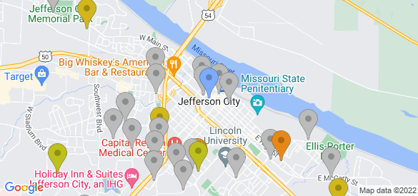 Staticmap?size=585x275&scale=1&center=jefferson+city,+mo&zoom=13&markers=color:blue%7cjefferson+city,+mo&markers=color:0xa3be1e%7c38.570492, 92.26973&markers=color:0xbdc01d%7c38.606129, 92.216408%7c38.56245, 92.209908%7c38.562923, 92.176216&markers=color:0xd2b81a%7c38.555828, 92.142494%7c38.569263, 92.185364%7c38.589718, 92.202881%7c38.58617, 92.290413&markers=color:0xdca219%7c38.568592, 92.270576&markers=color:0xe78817%7c38.564922, 92.156303%7c38.551975, 92.171898%7c38.563454, 92.176369&markers=color:gray%7c38.563385, 92.17749%7c38.562531, 92.18145%7c38.570885, 92.239365%7c38.579014, 92.175209%7c38.59277, 92.210991%7c38.565083, 92.158852%7c38.567142, 92.192162%7c38.56493, 92.186691%7c38.570446, 92.240616%7c38.568939, 92.149742%7c38.530804, 92.188972%7c38.56176, 92.144173%7c38.567383, 92.185669%7c38.569023, 92.196594%7c38.538578, 92.171837%7c38.57589, 92.168732%7c38.5494, 92.191032%7c38.59277, 92.210991%7c38.546818, 92.227684%7c38.595928, 92.251671%7c38.525795, 92.151848%7c38.562283, 92.292709%7c38.559372, 92.179794%7c38.561138, 92.186745%7c38.60207, 92.258217%7c38.561653, 92.167068%7c38.569511, 92.288063%7c38.539429, 92.212952%7c38.54213, 92.227966%7c38.600887, 92.257133%7c38.57748, 92.186363%7c38.572109, 92.193604%7c38.552811, 92.203514%7c38.577171, 92.175011%7c38.513866, 92.176102%7c38.535732, 92.188286%7c38.580551, 92.186516%7c38.577438, 92