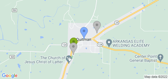 Staticmap?size=585x275&scale=1&center=quitman,+ar&zoom=13&markers=color:blue%7cquitman,+ar&markers=color:0x86b31f%7c35.378902, 92.222153&markers=color:0xa3be1e%7c35.378902, 92.222153&markers=color:gray%7c35.376526, 92.22229%7c35.387047, 92