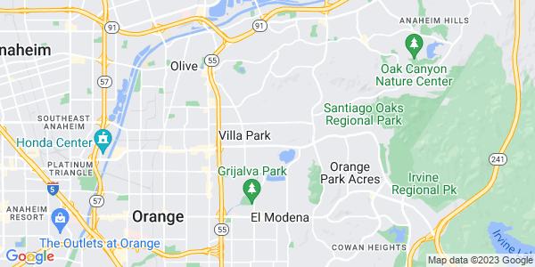 Map of Villa Park, CA
