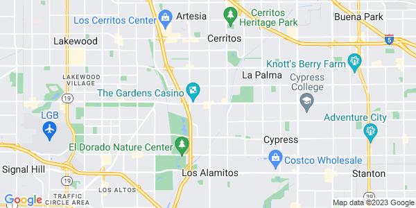 Map of Hawaiian Gardens, CA