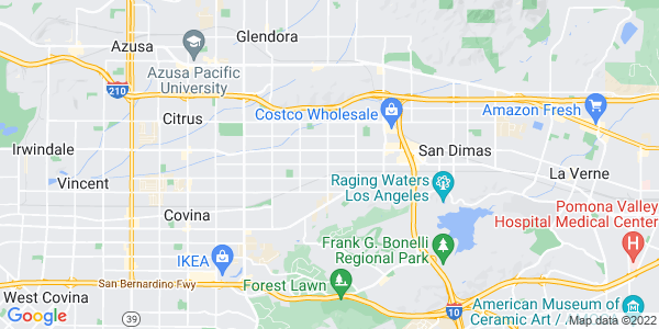 Map of Charter Oak, CA