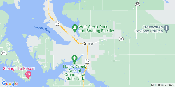 Map of Grove, OK