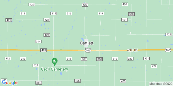Map of Bartlett, KS