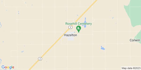 Map of Hazelton, KS