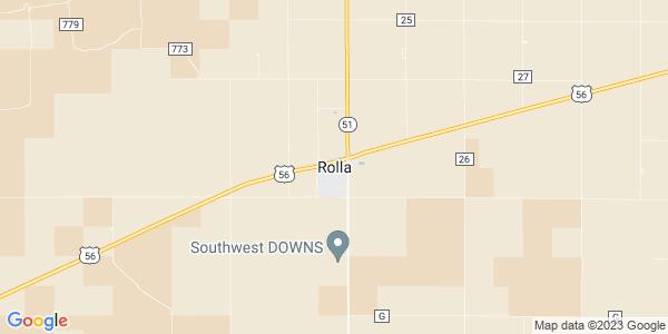 Map of Rolla, KS