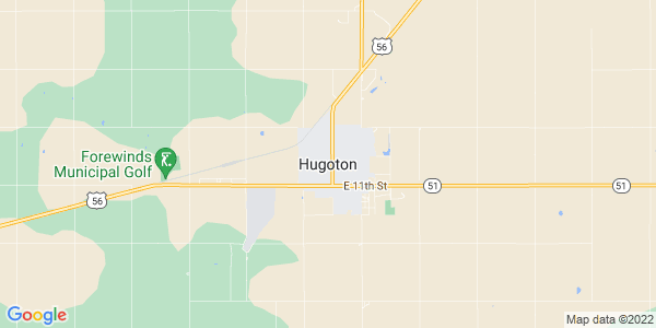 Map of Hugoton, KS