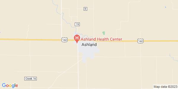 Map of Ashland, KS