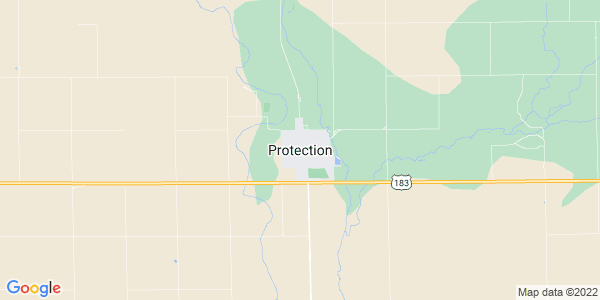 Map of Protection, KS