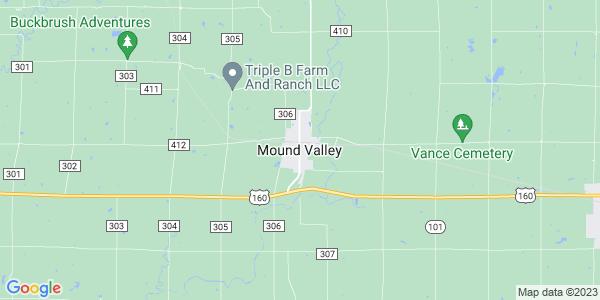 Map of Mound Valley, KS