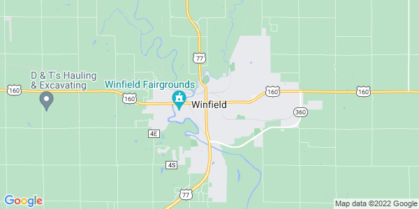 Map of Winfield, KS