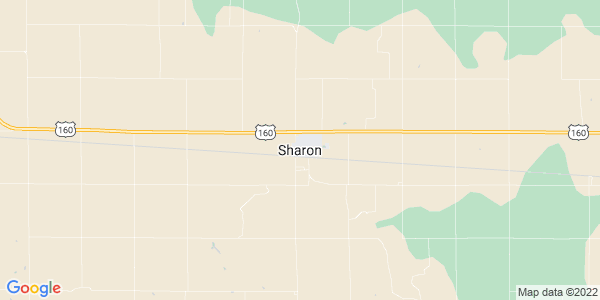 Map of Sharon, KS