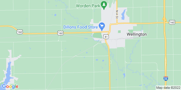 Map of Wellington Township, KS