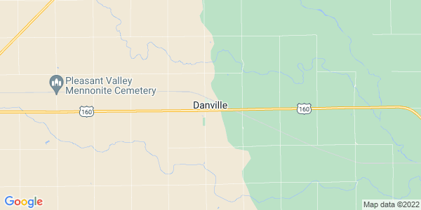 Map of Danville, KS
