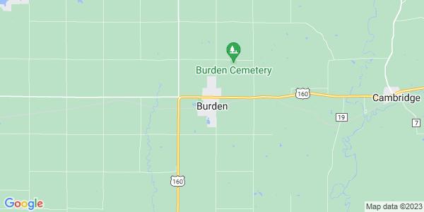 Map of Burden, KS