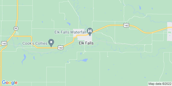 Map of Elk Falls, KS
