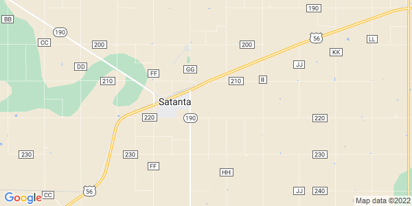Map of Satanta, KS