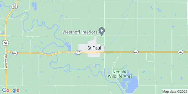 Map of St. Paul, KS