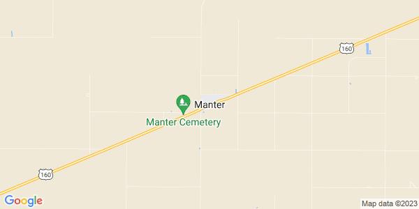 Map of Manter, KS