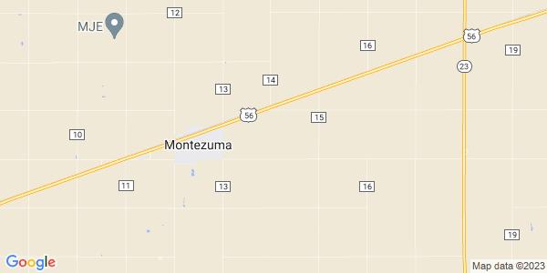 Map of Montezuma Township, KS