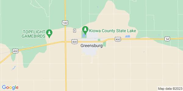 Map of Greensburg, KS