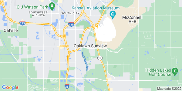 Map of Oaklawn-Sunview, KS