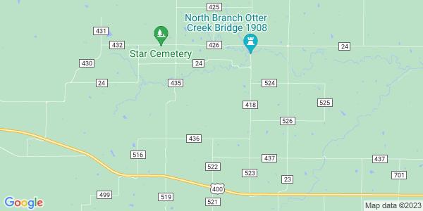 Map of Otter Creek, KS