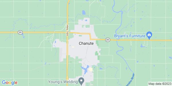 Map of Chanute, KS