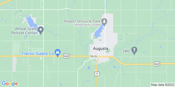 Map of Augusta Township, KS
