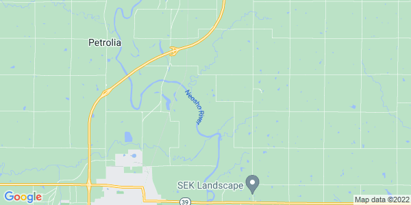 Map of Tioga, KS